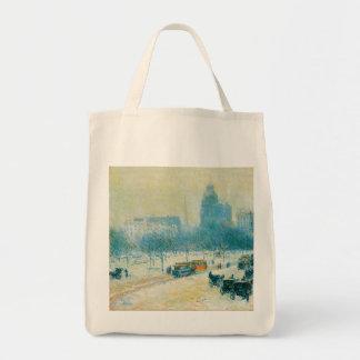 Union Square Winter Hassam Vintage Impressionism Bag