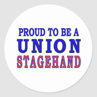 UNION STAGEHAND CLASSIC ROUND STICKER