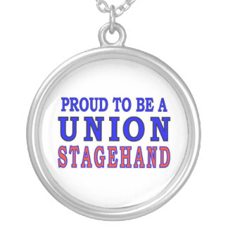 UNION STAGEHAND ROUND PENDANT NECKLACE