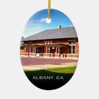 UNION STATION - Albany, Georgia Ceramic Ornament