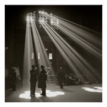 Union Station Chicago, 1943. Vintage Photo Poster
