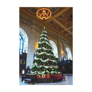 Union Station Christmas Tree, Kansas City Canvas Print