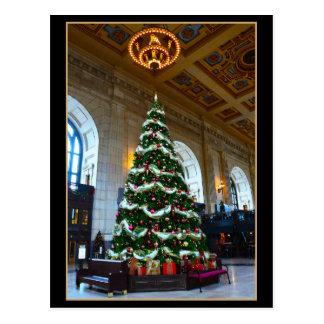 Union Station Christmas Tree, Kansas City Missouri Postcard