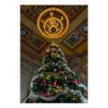 Union Station Christmas Tree Poster
