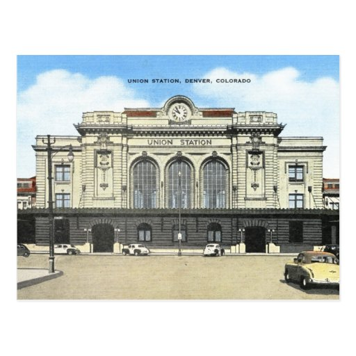 Denver Union Station: Union Station, Denver, Colorado Vintage Postcard