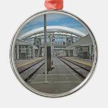 Union Station Denver Round Metal Christmas Ornament