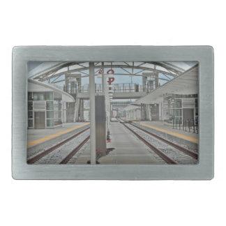Union Station Denver Rectangular Belt Buckle