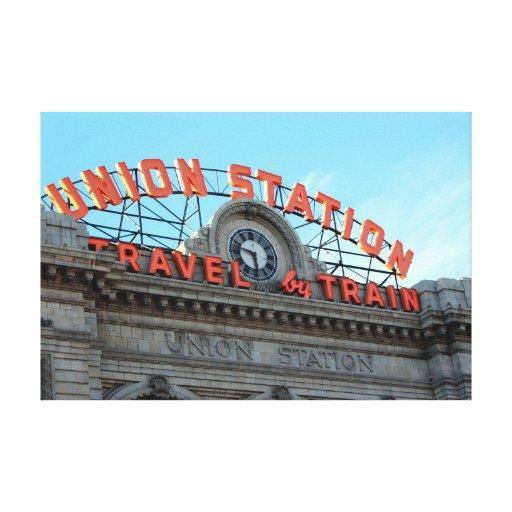 Denver Union Station: Union Station - Downtown Denver Canvas Print