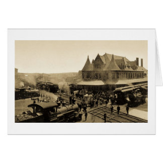 Union Station, Durand, Michigan Card