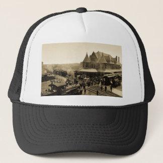 Union Station, Durand, Michigan Trucker Hat