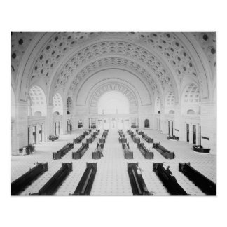 Union Station Grand Lobby, 1910. Vintage Photo Poster
