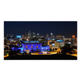 Union Station in Blue, Kansas City (19x10) Poster