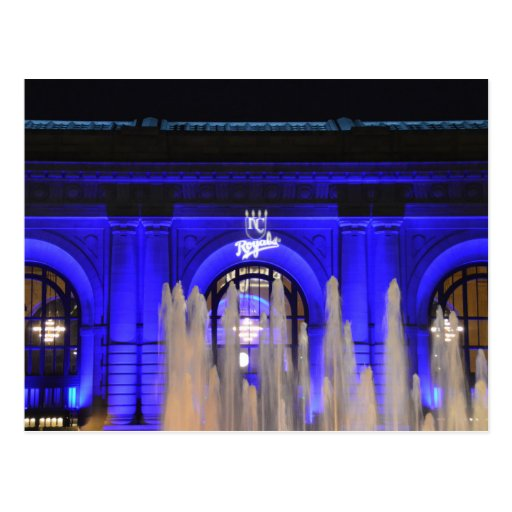 Union Station in Blue, Kansas City, Missouri Postcard