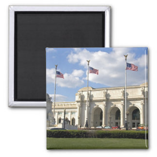 Union Station in Washington, D.C. 2 Inch Square Magnet