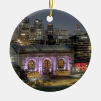 Union Station (Kansas City) Double-Sided Ceramic Round Christmas Ornament