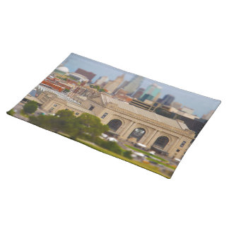 Union Station, Kauffman Center, Sky Stations KC Cloth Placemat