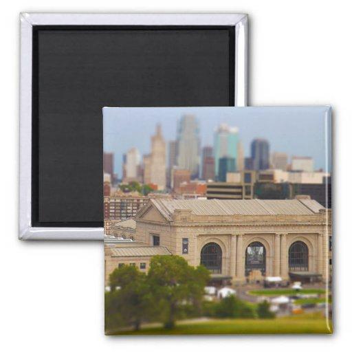 Union Station, Kauffman Center, Sky Stations KC Refrigerator Magnets