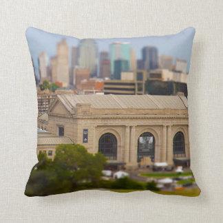 Union Station, Kauffman Center, Sky Stations KC Throw Pillow