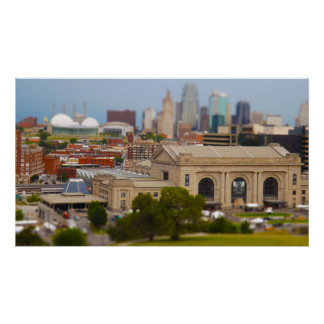 Union Station, Kauffman Center, Sky Stations KC Poster