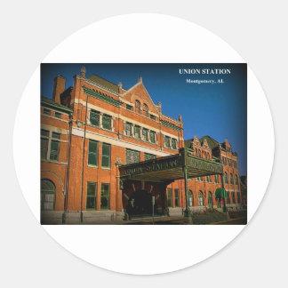 UNION STATION - Montgomery, Alabama Round Sticker