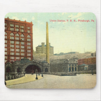Union Station, Pittsburgh PA 1910 Vintage Mouse Pad