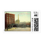 Union Station, Pittsburgh PA 1910 Vintage Stamp