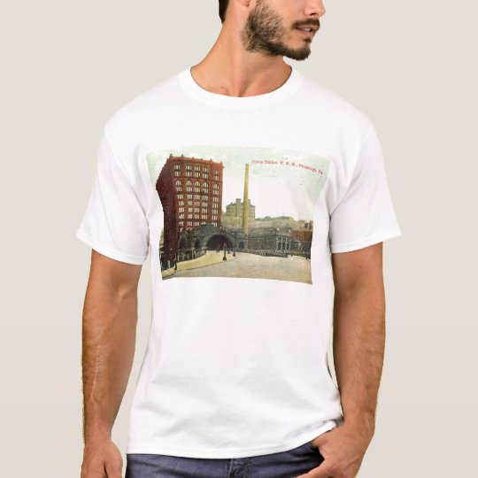 Union Station, Pittsburgh PA 1910 Vintage T-Shirt