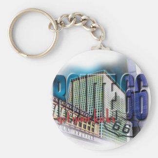 Union Station - Route 66 - Chicago Keychain