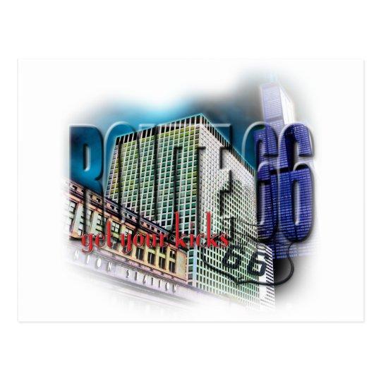Union Station - Route 66 - Chicago Postcard