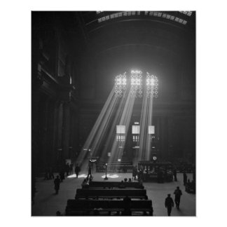 Union Station Waiting Room, 1943. Vintage Photo Poster