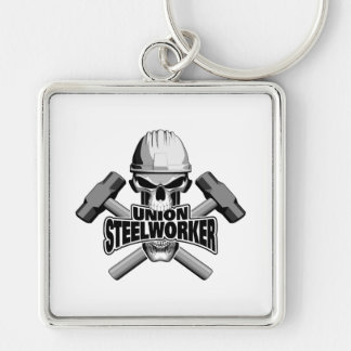 Union Steelworker: Skull and Sledge Hammers Keychain