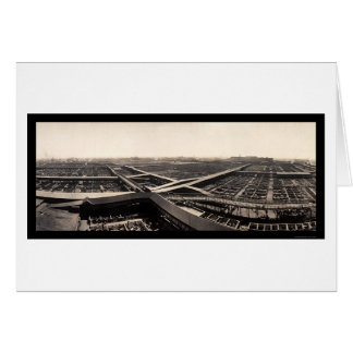 Union Stockyards Photo 1907 Card