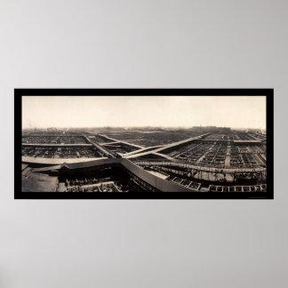 Union Stockyards Photo 1907 Poster