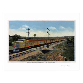 """Unión Streamliner pacífico """"ciudad de Denver """" Tarjeta Postal"""