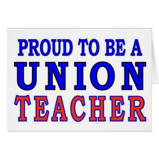 UNION TEACHER CARD