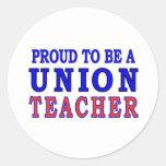 UNION TEACHER CLASSIC ROUND STICKER