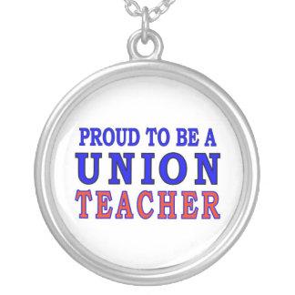 UNION TEACHER ROUND PENDANT NECKLACE