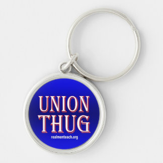 UNION THUG Silver-Colored ROUND KEYCHAIN