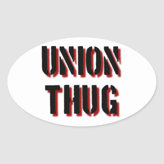 Union Thug Oval Stickers