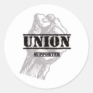Union Thug Supporter Round Sticker