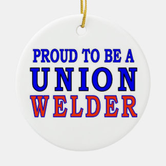 UNION WELDER Double-Sided CERAMIC ROUND CHRISTMAS ORNAMENT