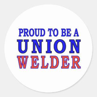 UNION WELDER ROUND STICKERS