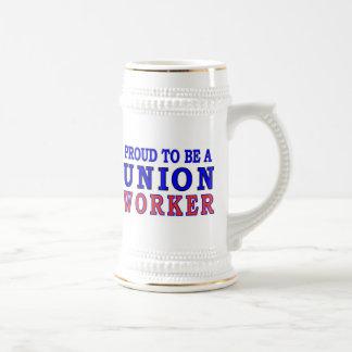 UNION WORKER BEER STEIN