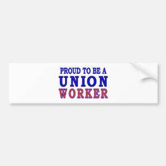 UNION WORKER BUMPER STICKER
