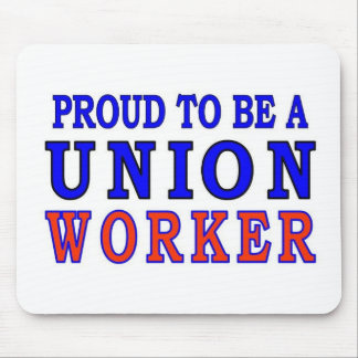 UNION WORKER MOUSE PAD