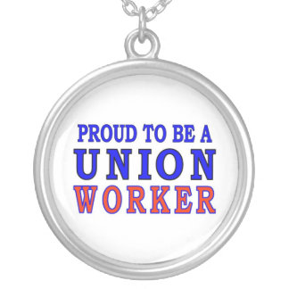 UNION WORKER ROUND PENDANT NECKLACE