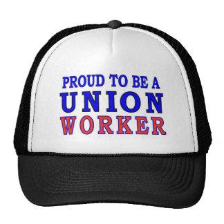 UNION WORKER TRUCKER HAT
