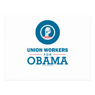 Union Workers for Obama Postcard