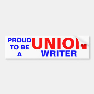 UNION WRITER CAR BUMPER STICKER
