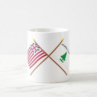 Unión y bandera magníficas cruzadas de los crucero taza básica blanca